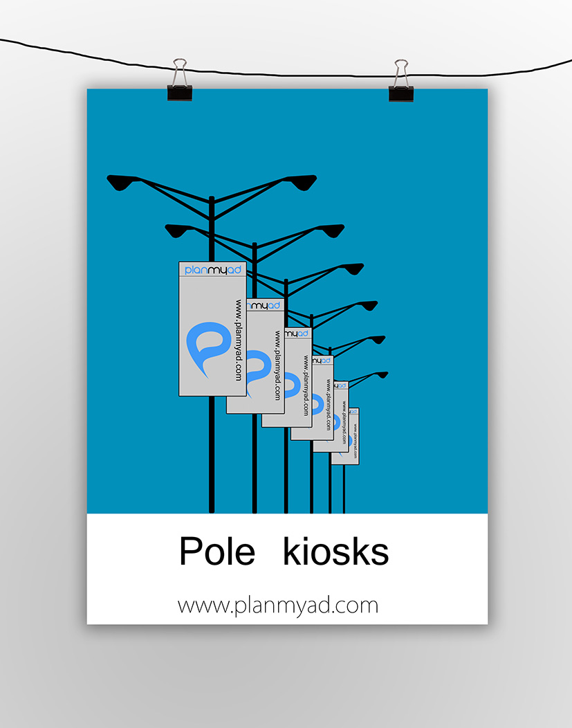ooh media, pole kiosks